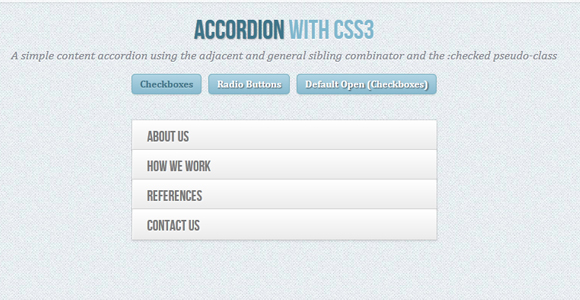 Accordion with CSS3