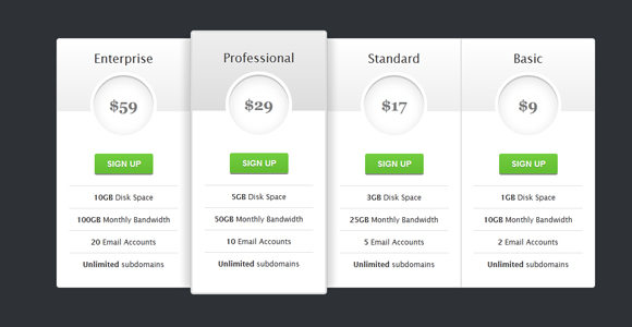 css3-pricing-table 40+ Cool and Useful CSS3 Tutorials and Techniques