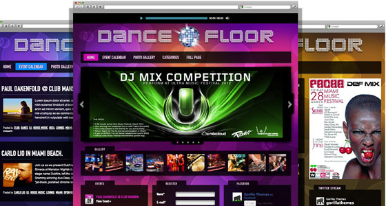 Dance Floor WP Theme