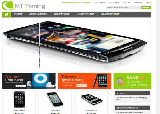 MT Yoming Hi-Tech Magento Themes