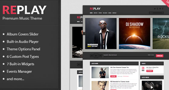 Responsive Music WP Theme