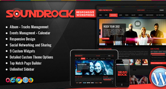 Sound Rock Music Band WP Theme