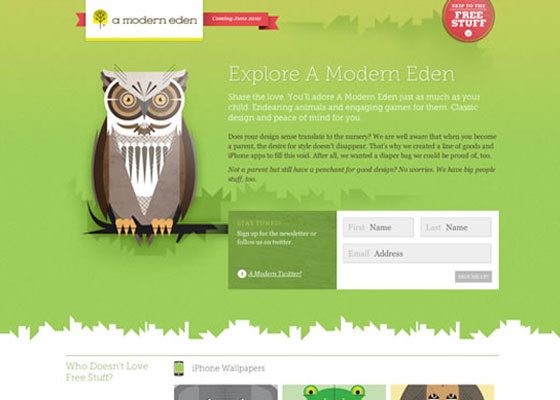 A-Modern-Eden 25 Awesome Examples of Illustration in Web Design