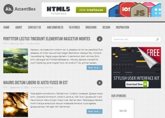 AccentBox 25 Free Minimal Responsive WordPress Themes