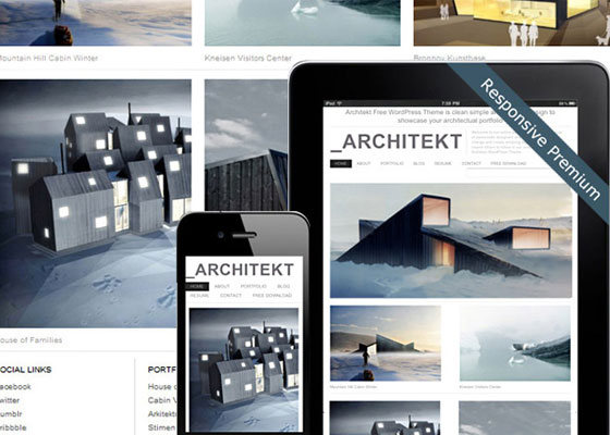 Architekt-Theme 25 Free Minimal Responsive WordPress Themes
