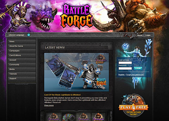 Battle-Forge Great Game Websites For Your Inspiration