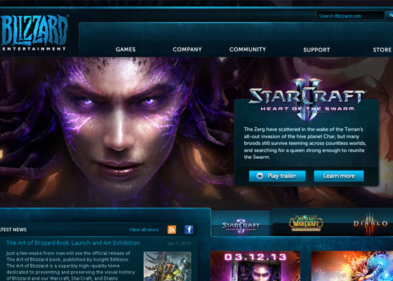Blizzard-Entertainment Great Game Websites For Your Inspiration