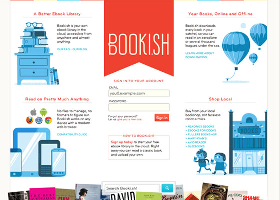 Bookish 25 Awesome Examples of Illustration in Web Design
