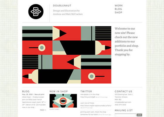 Doublenaut 25 Awesome Examples of Illustration in Web Design