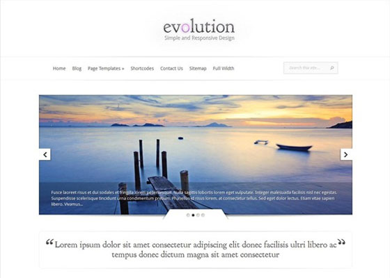 Evolution 25 Free Minimal Responsive WordPress Themes