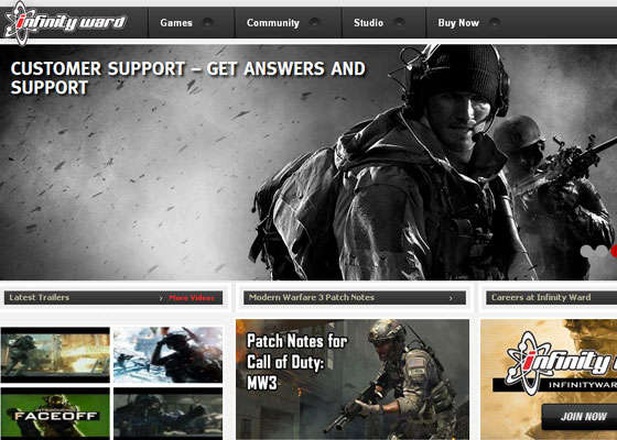 Infinity-Ward Great Game Websites For Your Inspiration