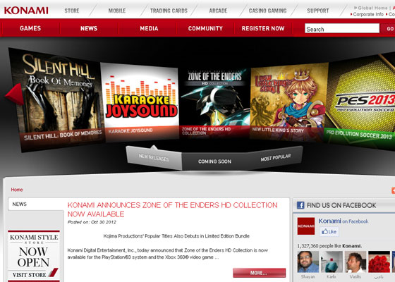Konami Great Game Websites For Your Inspiration