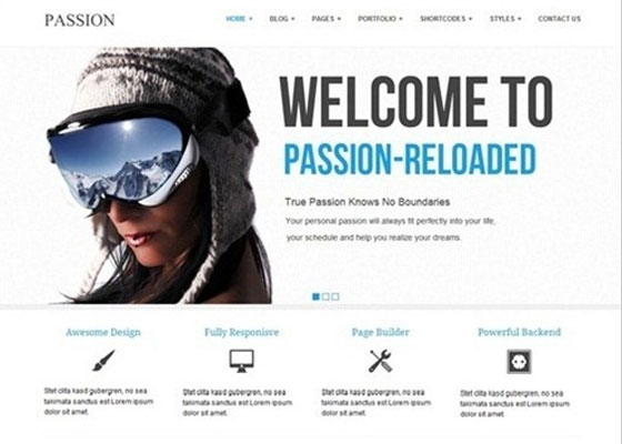 Passion-Reloaded-Simple 25 Free Minimal Responsive WordPress Themes