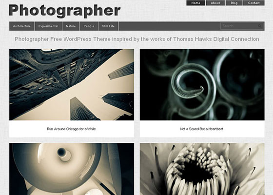 Photographer-Theme 25 Free Minimal Responsive WordPress Themes