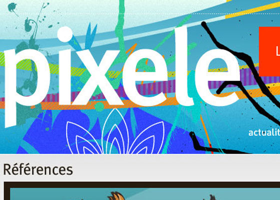 Pixele 25 Awesome Examples of Illustration in Web Design