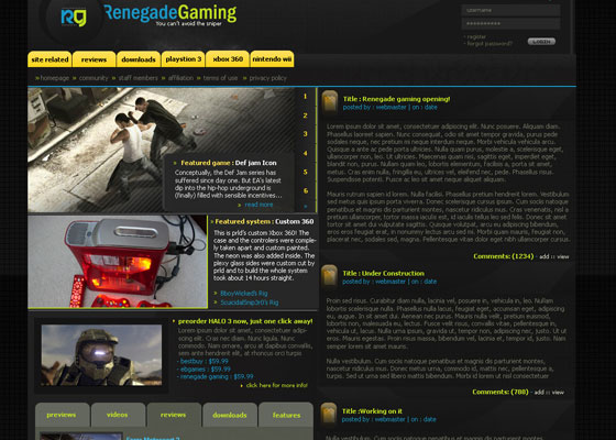 Renegade-Gaming-by-prld Great Game Websites For Your Inspiration