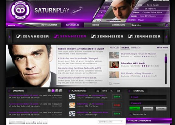 SaturnPlay-by-AndasoloArts Great Game Websites For Your Inspiration