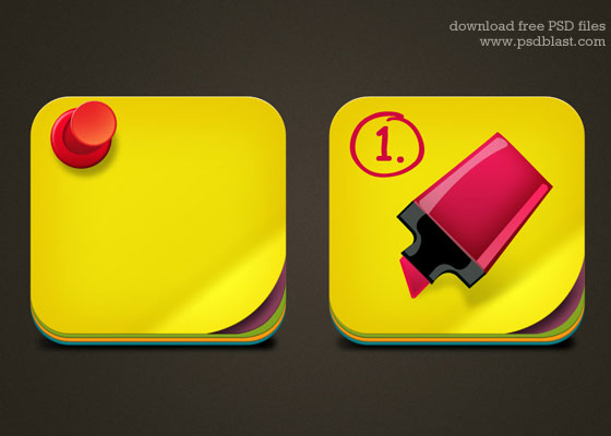 Sticky Note Icon PSD