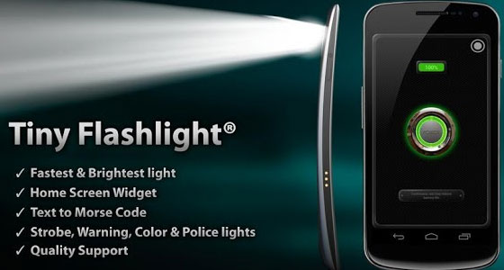 Tiny-Flashlight 30 Awesome Free Android Apps