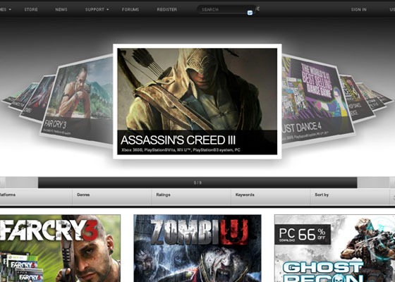 Ubisoft Great Game Websites For Your Inspiration
