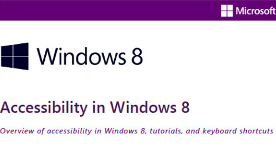 Windows 8 Accessibility