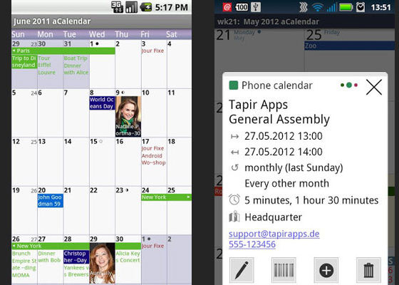 aCalendar 30 Awesome Free Android Apps