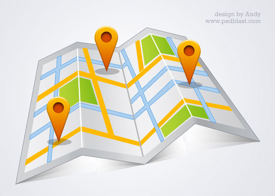 google map PSD