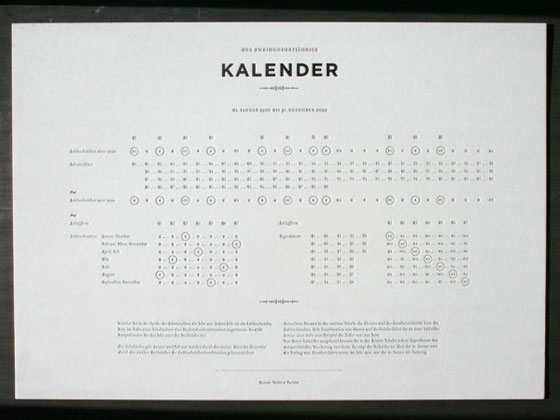 200-Year-Calendar Unique Calendar Designs 2013