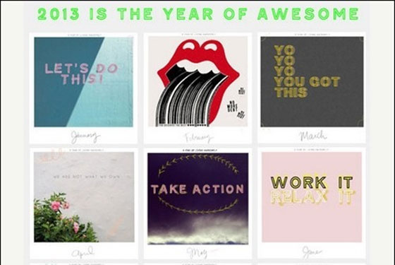 A-Year-of-Living-Awesomely Unique Calendar Designs 2013
