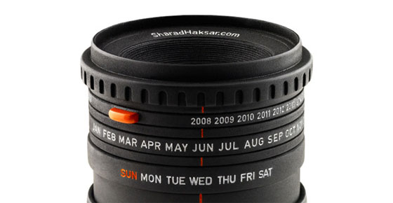 Camera-Lens-Calendar Unique Calendar Designs 2013