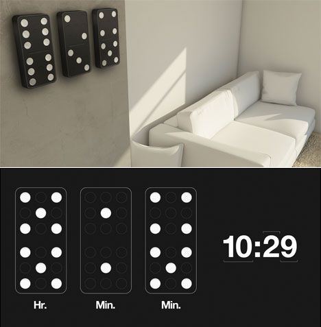 Carbon-Domino-Clock Clock Designs Inspiration