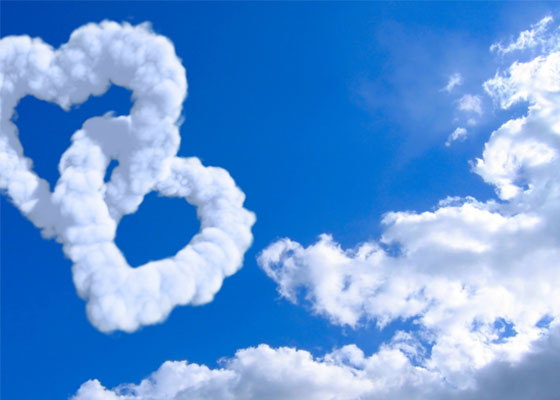Clouds-of-Heart Most Beautiful Valentines Wallpapers