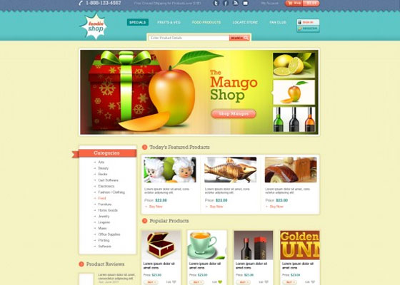 Ecommerce-website-PSD-Template