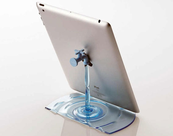 Faucet-Stand Ipad Stands Unique Collection