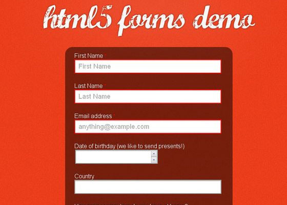 Fun with HTML5 Forms