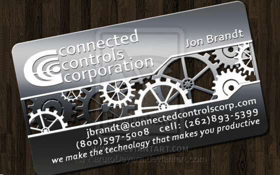 Metal business card design