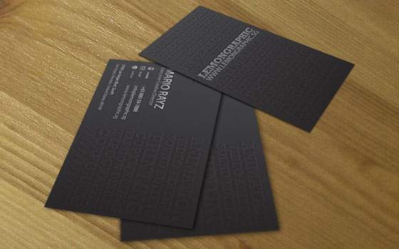 Minimalist embossed business