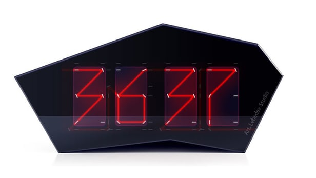 Reflectius-Laser-Beam-Clock Clock Designs Inspiration