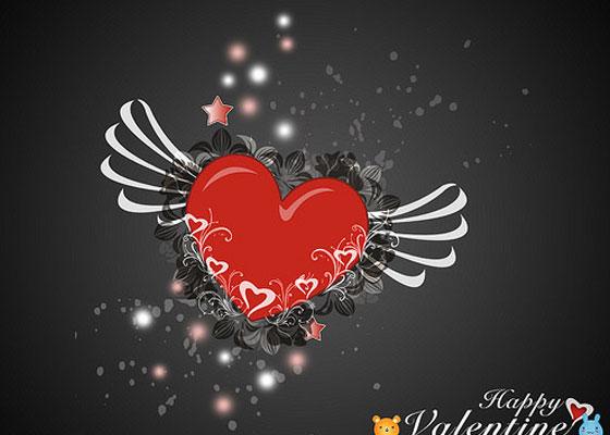 Valentine-Heart-1 Most Beautiful Valentines Wallpapers