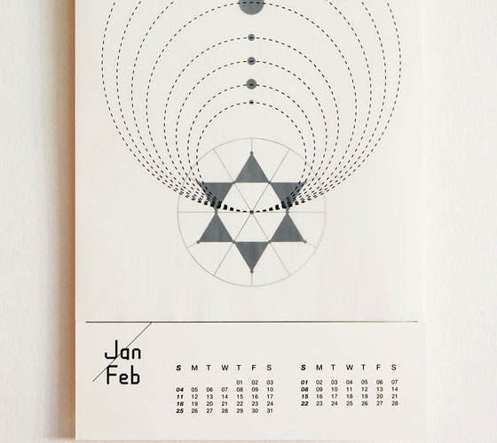 Year-of-Astronomy Unique Calendar Designs 2013