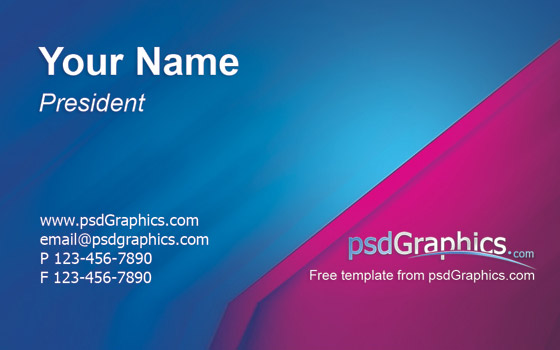 format for business cards