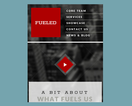 Fueled 40+ Mobile web designs inspiration