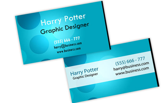 HP Business Card Business Card Template