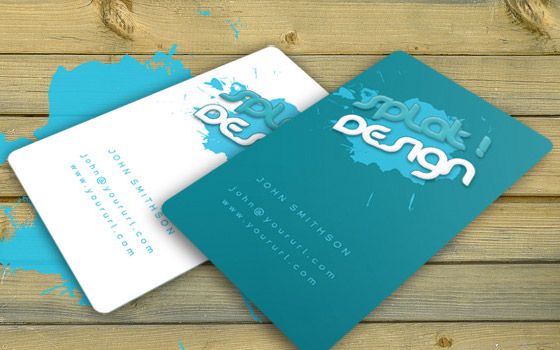 Splat Business Card with PSD.