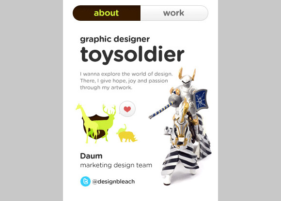 Toy-Soldier 40+ Mobile web designs inspiration