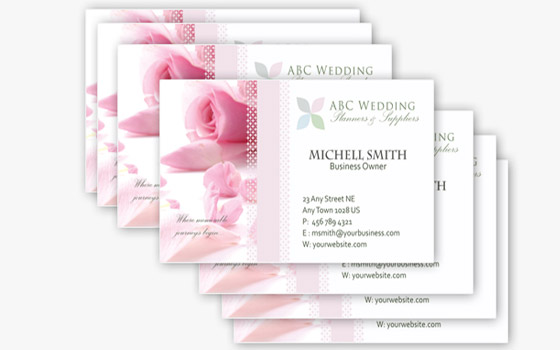 Free Business Card Templates Webmantra - Wedding business card template
