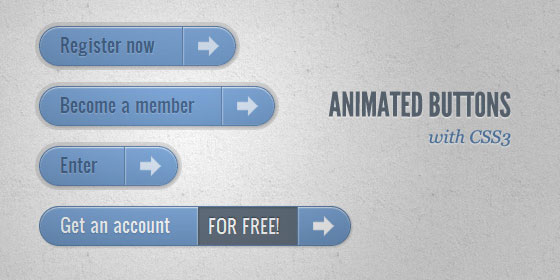 animated buttons with css3