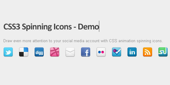 css3 spinning icons