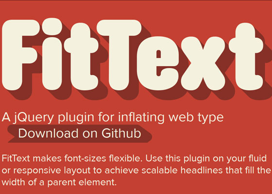fittextjs 30+ Tools for Responsive Web Design