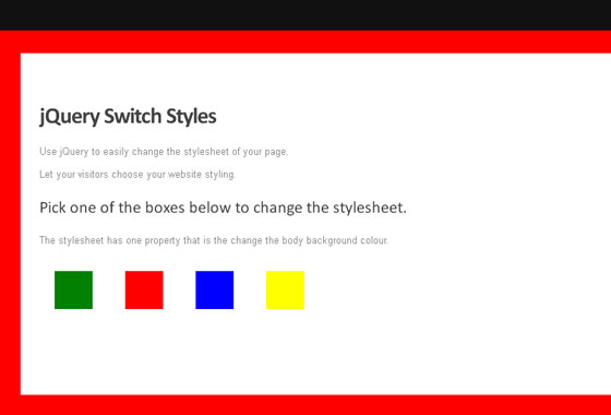 Switch Stylesheets With jQuery